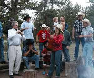 Dude Ranch Campfire Photo