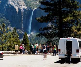 Yosemite Land Tour Stops at Waterfall Photo