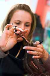 Hair Stylist Cutting Hair Photo