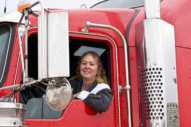 Female Owner Operator Trucker Photo