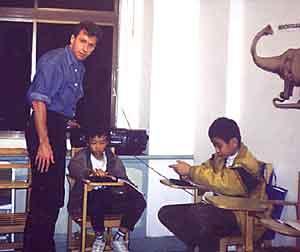 Taiwan English Teacher working with Students Photo
