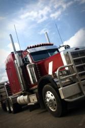 Red Semi-trailer Truck Photo
