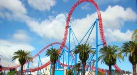 Amusement Park Photo Button