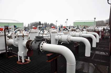 Oil Sands Pump Facility in Alberta Canada Photo