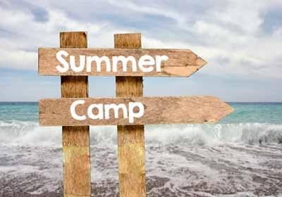 Summer Camp Sign at Camp Playa