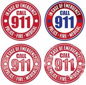 911 Emergency Banner