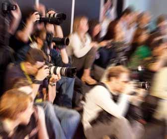 Paparazzis Taking Photos at Emmy Awards