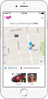 Lyft iPhone App Screenshot