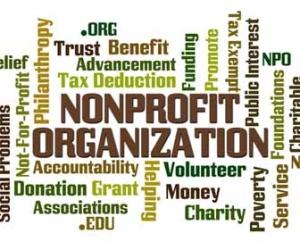 NonProfit Organization Word Brainstorm Image