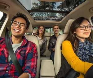 Lyft Ridesharing Driver Driving Customers Photo
