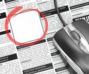 Empty Job Advertisement In Classifieds Image