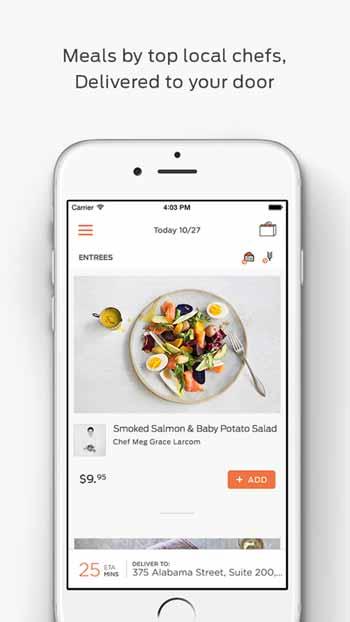 Munchery iPhone Screenshot