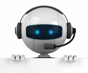 Robot Working A Human Job Image