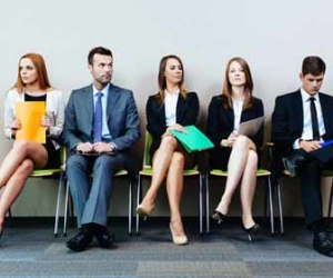 Five Applicants Waiting For Job Interview Picture