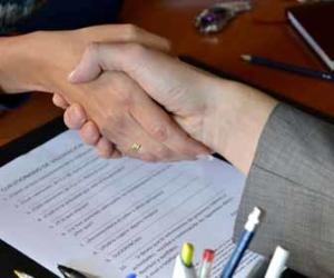Exit Interview Handshake