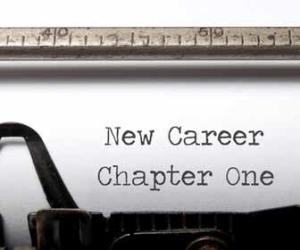 New Career on a typewriter image