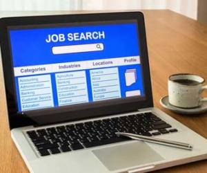 Company's Career Site On Job Seeker's Computer