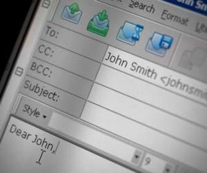 Start of typing email to John
