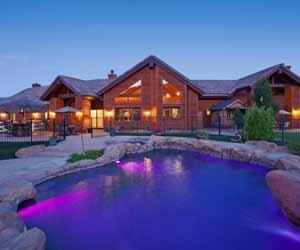 Main Lodge and Pool at Colorado Guest Ranch
