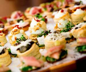 Plate of Appetizers from Catering Company