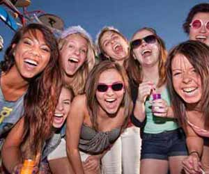 Summer Employees having Fun at Company Party