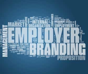 Employer branding concept in word cloud graphic
