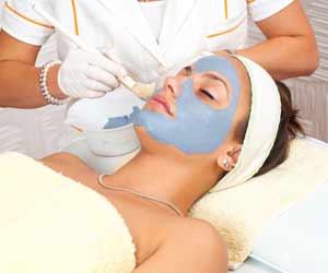 Woman Getting Facial at a Spa Photo