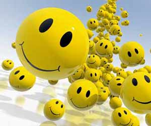 Yellow Smiley Face Balls Image