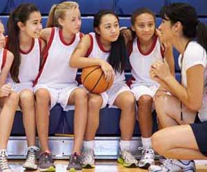 High School Basketball Coach Coaching Team