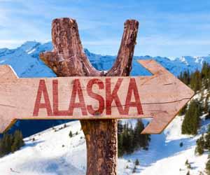 Alaska Arrow Sign