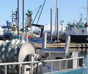 Alaska Salmon Fishing Gillnetting Boat in Harbor