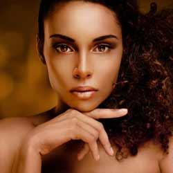Beautiful Female Model Poses for Photo