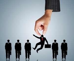 Hand picking up passive job seeker graphic