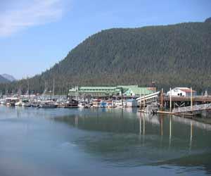 Ocean Beauty Seafood Processing Plant in Petersburg Alaska