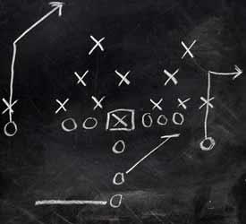 Football Pass Play Coaching Diagram