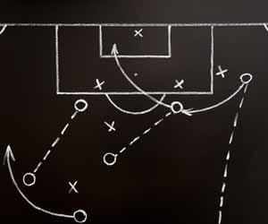 Soccer Play Coach Diagram