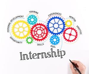 Key concepts of an internship drawn by hand