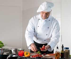 Chef Preparing a Savory Dish