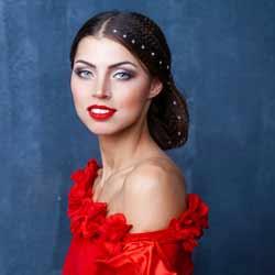 Flamenco Dancer Poses for Photo