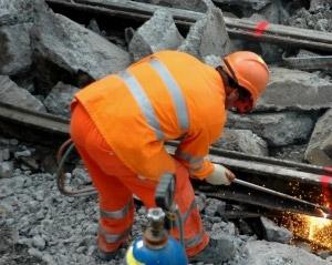 maintaining the railway